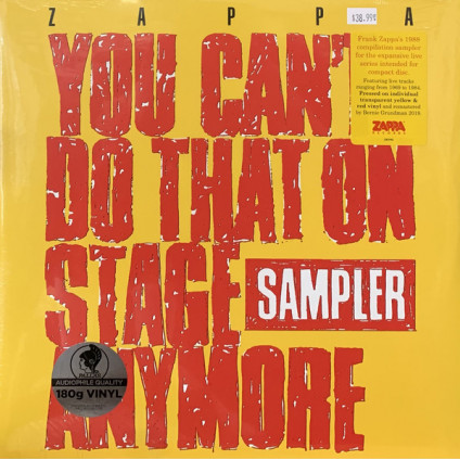 You Can't Do That On Stage Anymore (Sampler) - Zappa - LP