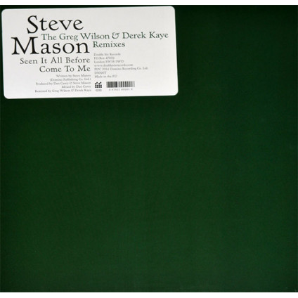 Seen It All Before / Come To Me (The Greg Wilson & Derek Kaye Remixes) - Steve Mason - 12""