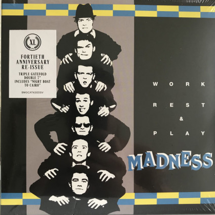 Work Rest & Play - Madness - 7""